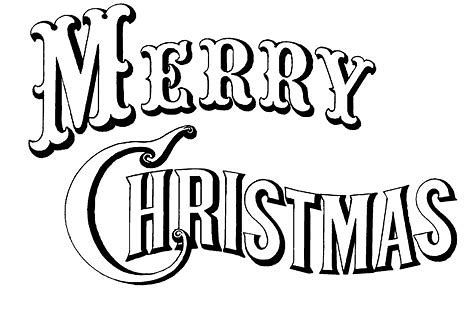 30+ Merry Christmas Clipart Black And White