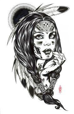 Beauty Desenho Nativo Americano Tatuagens Indigenas Americanas