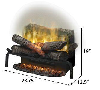Dimplex 20 In Revillusion Electric Fireplace Log Set W Ashmat