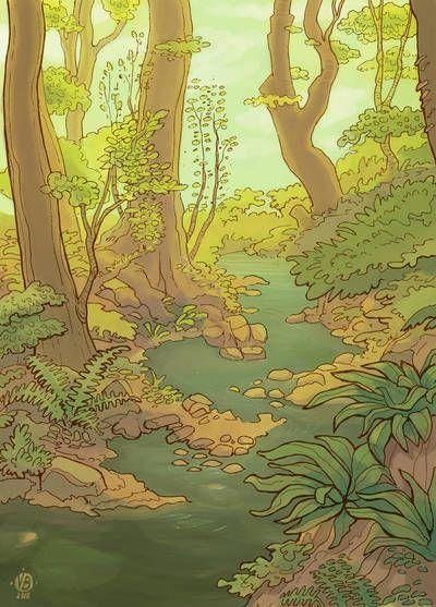 Forest By Nimphradora On Deviantart Landscape Paintings Beautiful Backgrounds Art
