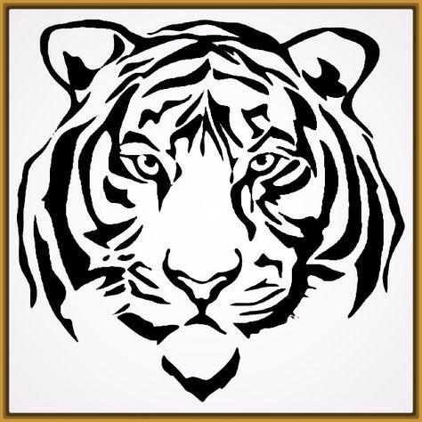 Dibujos De Caras De Tigres Para Colorear Fotos De Tigres Cara