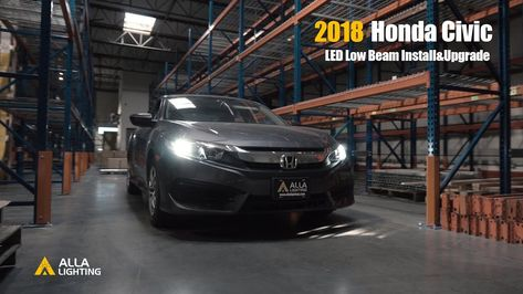 How To Install 2016 2019 Honda Civic H11 Low Beam Led Headlight Bulb Honda Civic Honda Civic Headlights Honda Civic Coupe