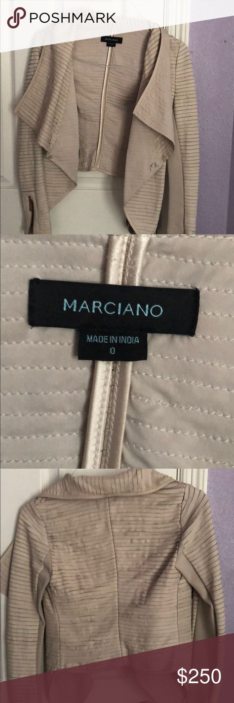 Marciano leather jacket Beige caramel leather jacket  Super antique marciano  Must have!  Great condition Marciano Jackets & Coats
