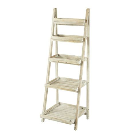 Etagere Echelle En Sapin Blanchi Wood Ladder Shelf Wood Ladder