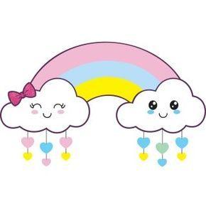 Pin De Mary Grosso En Aula 1 Nubes Y Arcoiris Adornos Para Baby Shower Moldes De Coronas