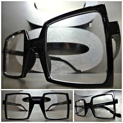 OVERSIZED EXAGGERATED VINTAGE RETRO Style SUN GLASSES Large Square Fashion Frame