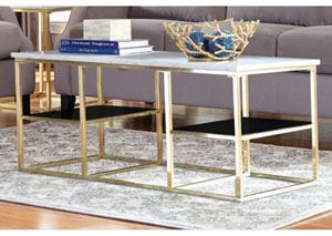 White Brushed Brass Coffee Table Marble Top Coffee Table Brass