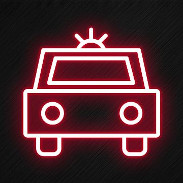 Police Car Icon In Neon Style Car Icons Style Icons Police Icons Png Transparent Clipart Image And Psd File For Free Download Car Icons Neon Icon