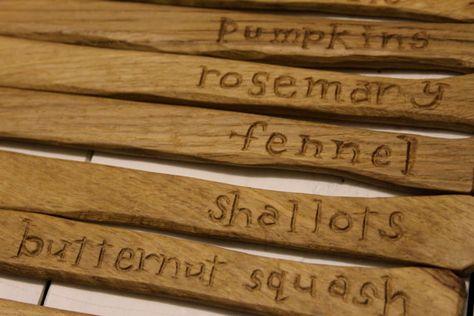 Oak garden markers