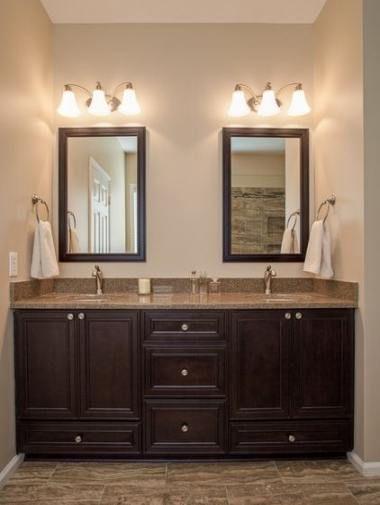 Best Bathroom Dark Brown Tile Cabinet, Bathroom Wall Colors With Dark Brown Cabinets