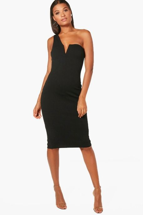 b9b5a0249d32 Charlotte Bandeau Choker Midi Dress | Boohoo | If Only in 2019 | Dresses,  Chokers, Clothes