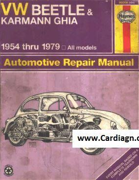 Vw Beetle Karmann Ghia Haynes Repair Manual For 1954 Thru 1979 Repair Manuals Vw Beetles Karmann Ghia