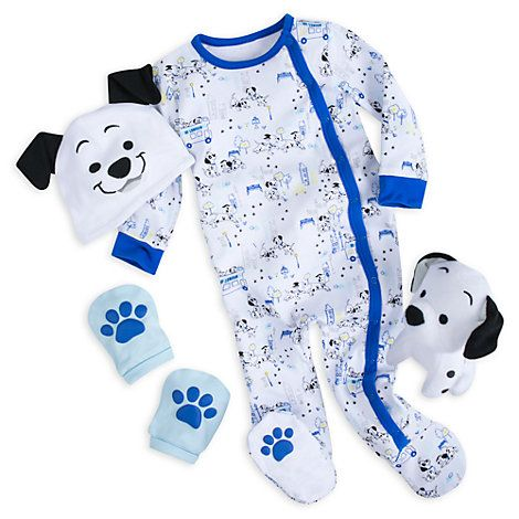 Disney Store 101 Dalmatians Blue Baby Gift Set Kids Disney Outfits Cute Baby Costumes Baby Gift Sets