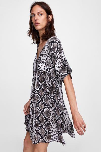 reasonable price speical offer more photos Image 3 of SNAKESKIN PRINT DRESS from Zara | Robe imprimée ...