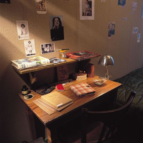 Anne Frank's desk in hiding. I visited Anne Frank's House in Amsterdam and toured their hiding place. I was very moved.