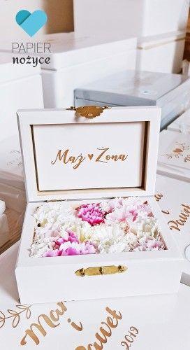 Love Pudelko Na Obraczki Wedding Decorative Boxes Wedding Rings