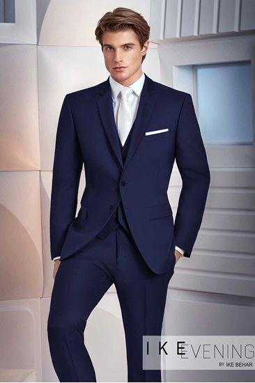 Navy Wedding Suit By Ike Behar The Collin Blue Suit Men Blue