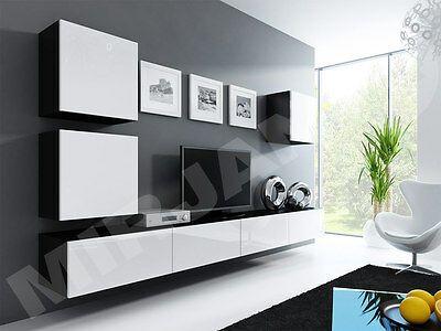 Details Zu Wohnwand Lucas 22 Tv Lowboard Tv Schrank Hangwand