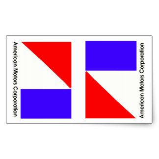 American Motors Corporation Logos Revised Rectangular Sticker