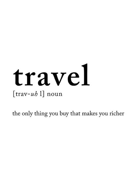 travel definition poster Travel poster Wall by PrintablePixel