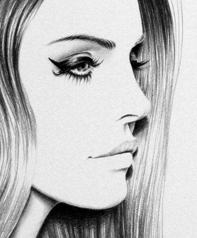 Lana del Rey Fine Art Signed Print Pencil Drawing by Ileana Hunter