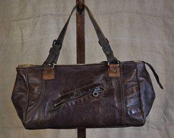 Recycling Leder Handtasche Italienisch Tasche Vintage