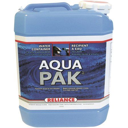 Reliance Aqua Pak Water Container Walmart Com In 2020 Water Containers Water Storage Containers Water Storage