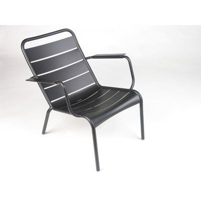 Luxembourg Lounge Stoel.Fermob Luxembourg Low Patio Chair Color Liquorice Outdoor