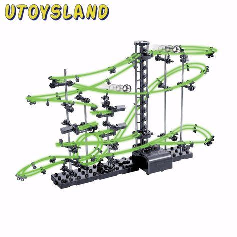 Utoysland Diy ألعاب تعليمية Spacerail المستوى 2 يتوهج في الظلام الرخام الرول كوستر مع كرات الصلب 10000 ملليمتر 23 Diy Educational Toys Roller Coaster Stem Toys