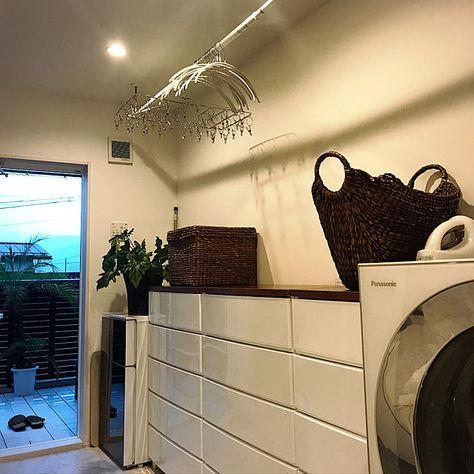 日々の洗濯を少しだけ楽にしてくれる 配置や動線の一工夫