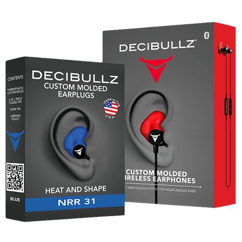 Custom Molded Security Radio Adapters Thermo-Fit Earpieces Designed Decibullz