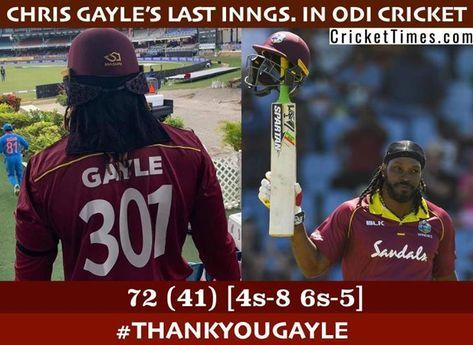 Chris Gayle retires from ODI cricket! #ThankYouGayle #WIVIND #3rdODI #UniverseBoss