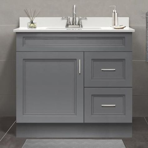 Magick Woods Elements Stratton 36 W X 21 D Gray Bathroom Vanity