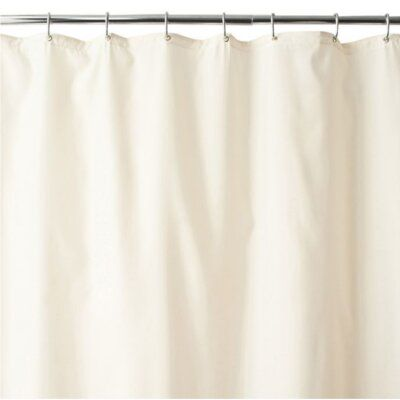 Red Barrel Studio Water Mould Mildew Resistant Beige Fabric Shower Curtain Colour Beige Fabric Shower Curtains Long Shower Curtains Extra Long Shower Curtain