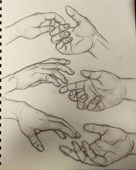 Holding hands drawing practice