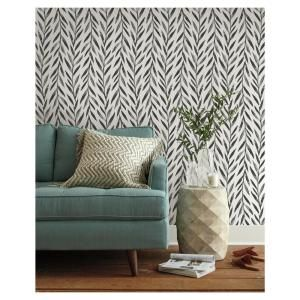 Magnolia Home By Joanna Gaines Willow Black Paper Strippable Roll Covers 56 Sq Ft Mk1136 The Home Depot Home Wallpaper Magnolia Homes Joanna Gaines Wallpaper