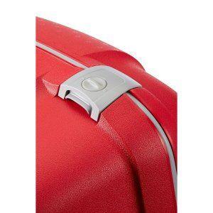 EU限定 サムソナイト フレームタイプ エアリス Mサイズ 68cm 64.5L 4輪 レッド 無料受託手荷物サイズ 国内旅行 出張 スーツケース キャリーケース