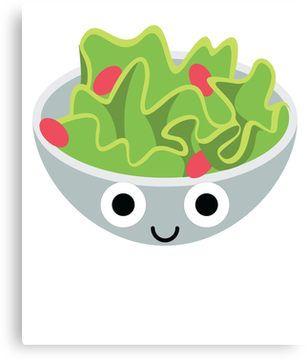 Salad Emoji Shock And Surprise Emoji Shock Print
