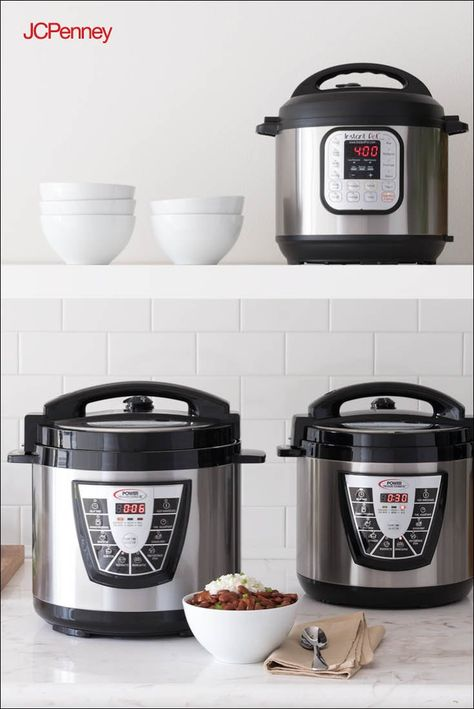 Instant pots and pressure cookers make it easy to feed the masses without the long wait time. Invite a whole crowd over—these small electrics can help you get the job done  with little effort.
