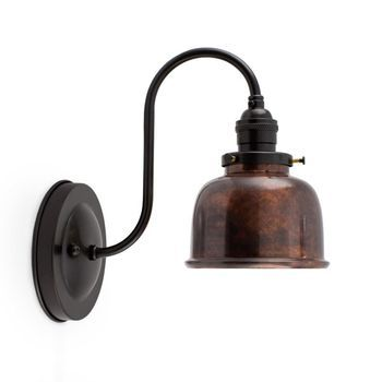 Fargo Copper Wall Sconce 999 Oil Rubbed Copper Mounting In 100 Black No Switch Copper Wall Sconce Vintage Wall Sconces Decorative Wall Sconces