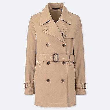 M/&S/&W Mens Trench Coat Notch Lapel Slim Fit Single Breasted Windbreaker Jacket