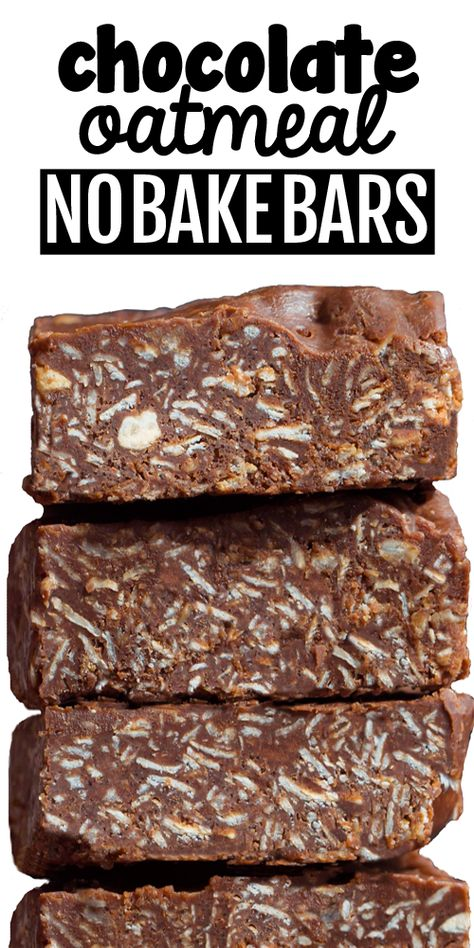 These healthy snack bars are packed with rolled oats, peanut butter, and chocolate. They're a big reader favoite recipe #chocolatecoveredkatie #recipe #healthysnack #healthy #chocolate #peanutbutter #oatmeal #snack Heart Healthy Desserts, Healthy Bars, Healthy Sweets, Healthy Dessert Recipes, Vegan Desserts, Healthy Chocolate Snacks, Oatmeal Bars Healthy, Protein Oatmeal, Protein Bar Recipes