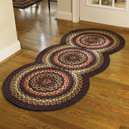Country Park Designs Black Cotton Braided Area Rug Red Cream Countrydecor Braided Area Rugs Braided Rug Diy Homemade Rugs