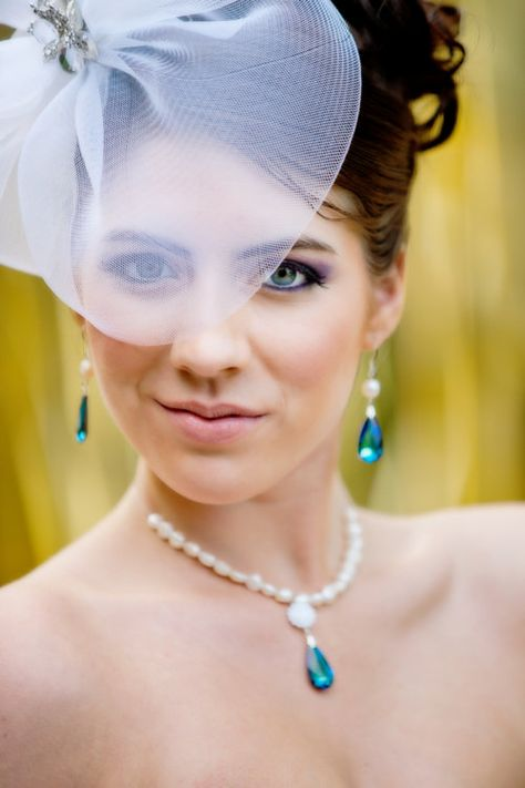 Wedding Earrings with Ivory Freshwater Pearls by EstyloJewelry #EstyloJewelry #weddingjewelry
