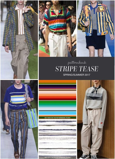 Menswear Spring/Summer 2017 – Key Print and Pattern Highlights - Stripe Tease