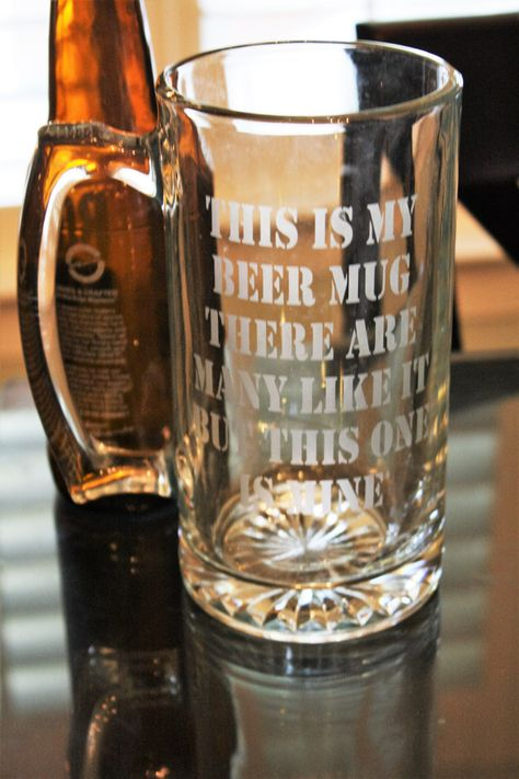 This is my beer mug, marine corps, beer glass, marine corps glass, Military beer mug, funny beer mug, etched beer glass by TheTipsyBride on Etsy