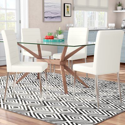 Wade Logan Melanie Side Chair Wayfair In 2020 Solid Wood Dining Chairs Furniture Side Chairs