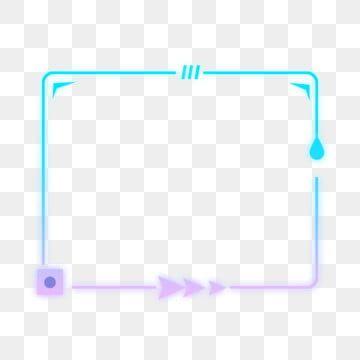 Blue Purple Technology Sense Geometric Line Arrow Border Gradient Element Png And Psd Geometric Lines Blue And Purple Border