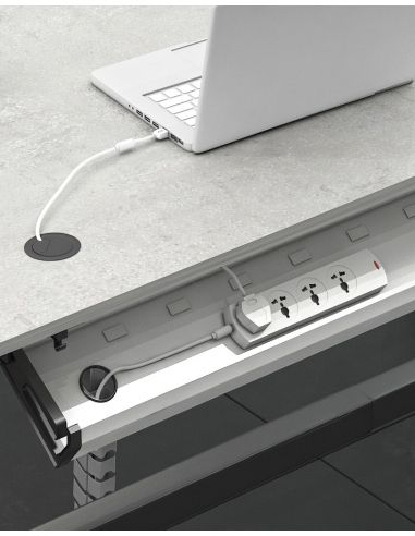 Under Desk Cable Tray Horizontal Wire Management Cradle In 2020 Cable Tray Outlet Wiring Cable