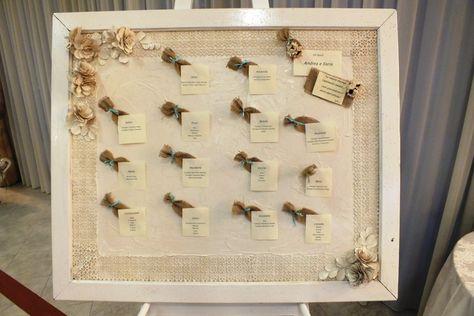 Tableau tavoli con nomi di piante dammusi